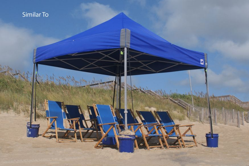 Each day our private beach area will be set up for us
