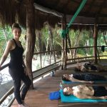 Yoga palapa in Mexico, 2015