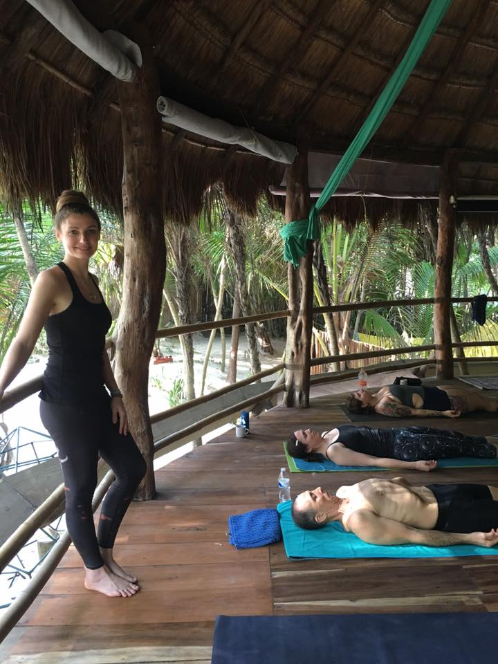 Yoga palapa in Mexico, 2015