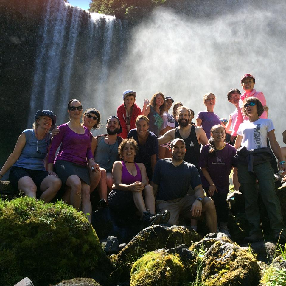 Chasing waterfalls at our Mt. Hood Oregon retreat in 2014