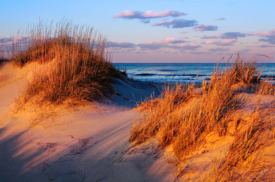 two-dunes-at-sunset-outer-banks-dan-carmichael