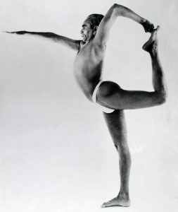 Look at that chest lift as B.K.S Iyengar executes this advanced version of the pose.